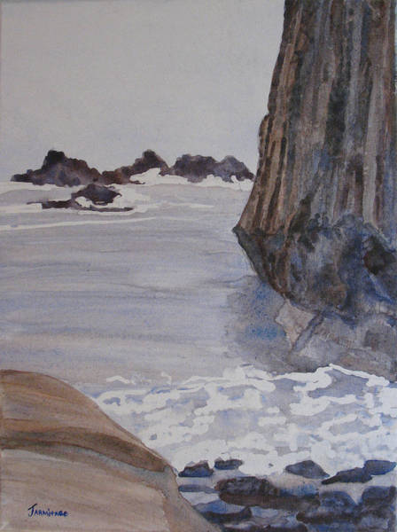 Wall Art - Sculpture - High Tide At Seal Rock by Jenny Armitage