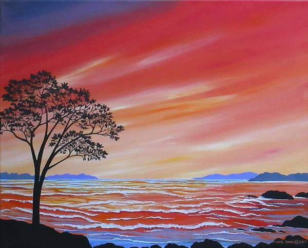 Wall Art - Painting - High Tide At Sunrise by Carol Sabo