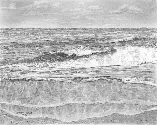 Drawing - High Tide by Barry Jones