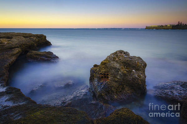 Photograph - High Tide On La Caleta Cove Cadiz Spain by Pablo Avanzini