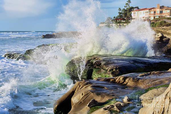 Photograph - High Tide On The Rocks by Eddie Yerkish