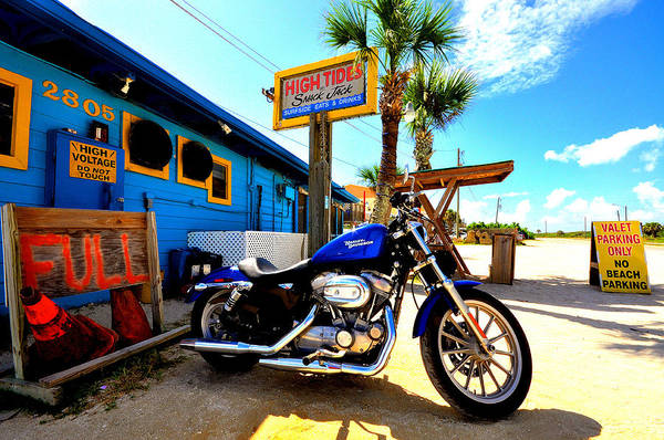 Flagler Beach Photograph - High Tides Harley by Andrew Armstrong  -  Mad Lab Images