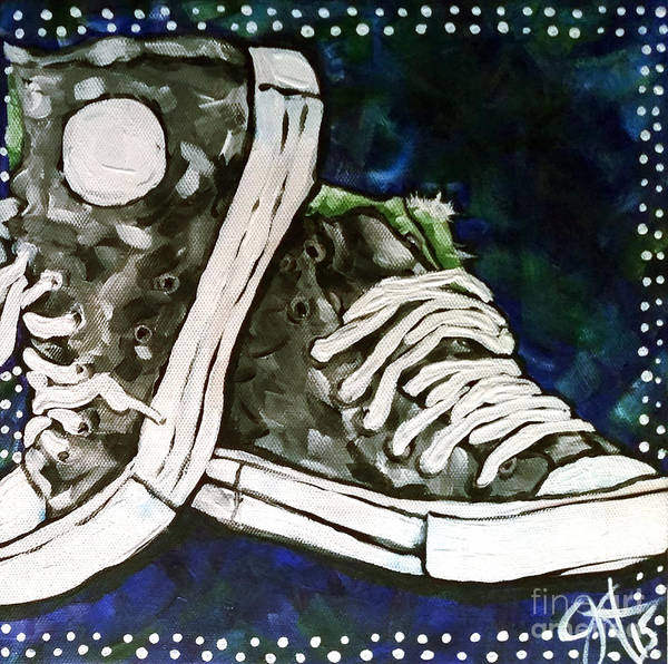 Sneakers Painting - High Top Heaven by Jackie Carpenter