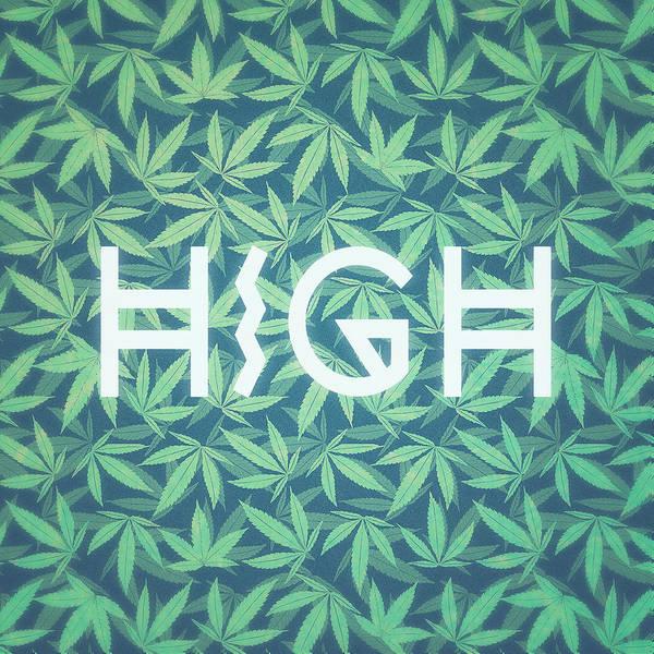 Cultivation Digital Art - High Typo  Cannabis   Hemp  420  Marijuana   Pattern by Philipp Rietz