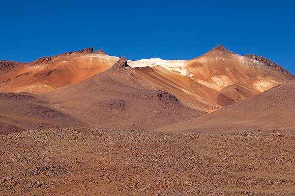 Photograph - High Volcanoes In Desert Ladies Valley by Aivar Mikko
