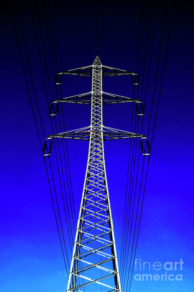 Wall Art - Photograph - High Voltage Power Line 1 by Ilan Rosen