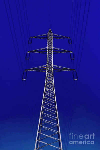 Wall Art - Photograph - High Voltage Power Line 2 by Ilan Rosen