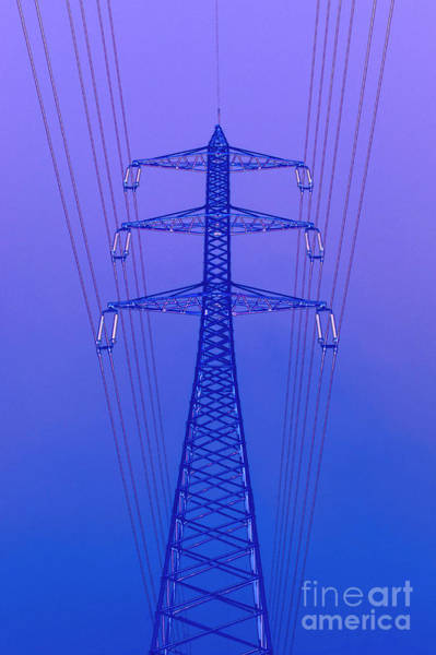 Wall Art - Photograph - High Voltage Power Line by Ilan Rosen