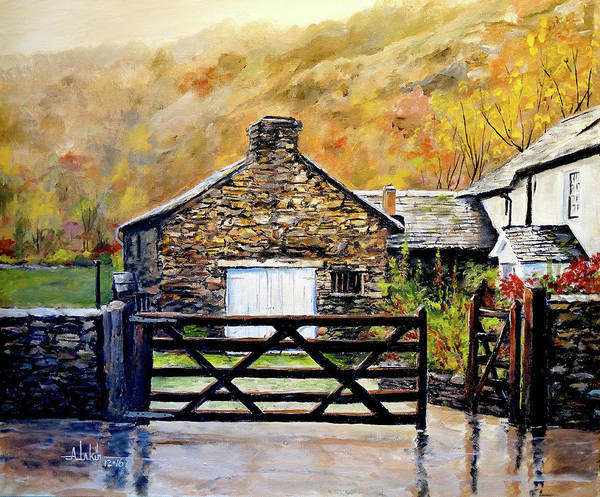 Lake District Painting - High Yewdale Farm by Alan Lakin