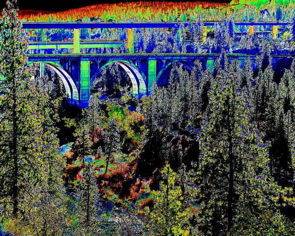 Spokane Digital Art - Highbridge Park Spokane by Ben Upham III