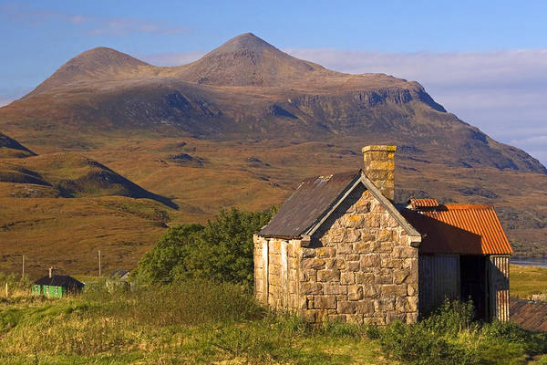 Highland Cottage At Elphin Art Print