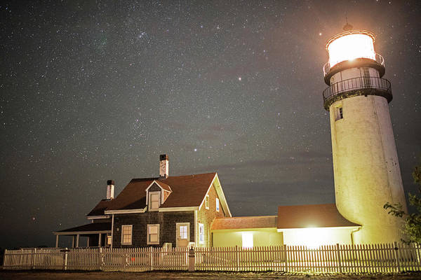 Photograph - Highland Light Truro Massachusetts Cape Cod Starry Sky by Toby McGuire