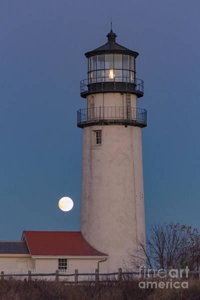 Photograph - Highland Lighthouse Full Moon by Richard Sandford