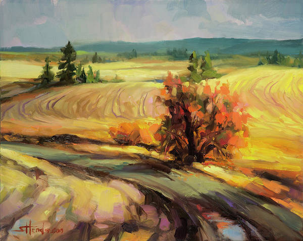 Wall Art - Painting - Highland Road by Steve Henderson