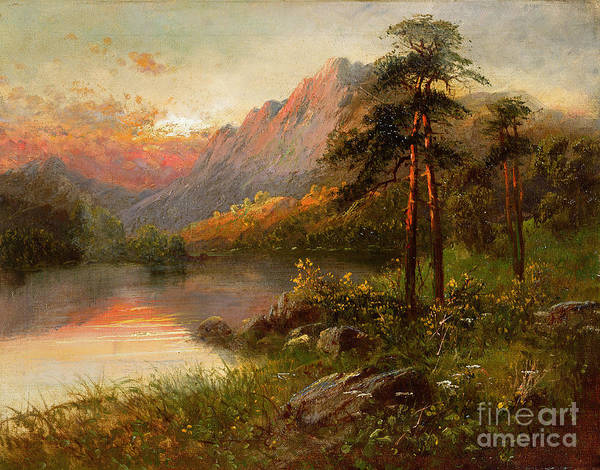 Mountain Lake Painting - Highland Solitude by Frank Hider