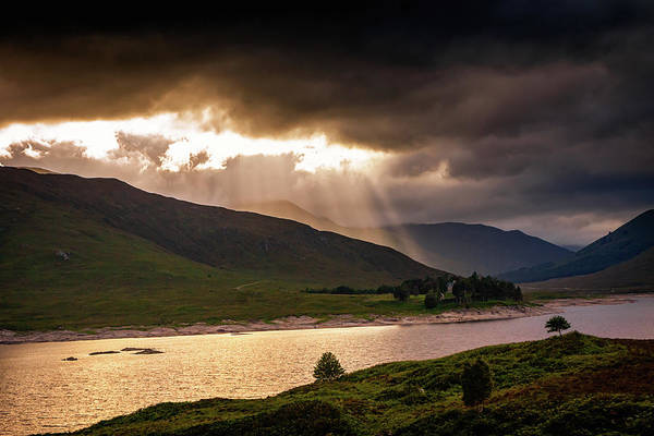Photograph - Highland Sunrays by Framing Places