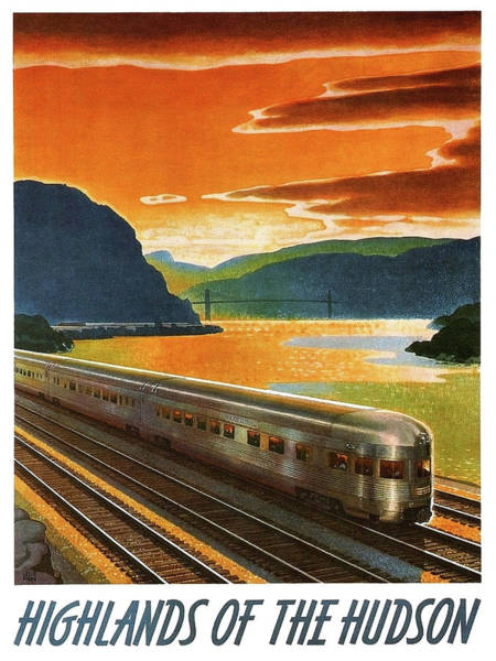 Wall Art - Painting - Highlands Of Hudson, Railway, Train by Long Shot