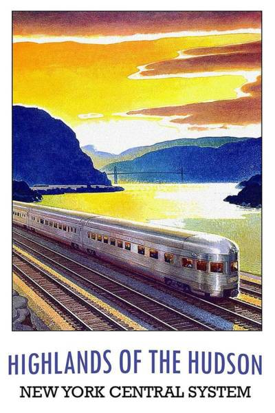 Rivers Mixed Media - Highlands Of The Hudson - New York Central System - Retro Travel Poster - Vintage Poster by Studio Grafiikka