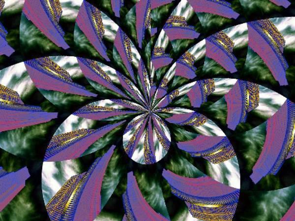 Highrise Digital Art - Highrise Kaleidoscope by Tim Allen