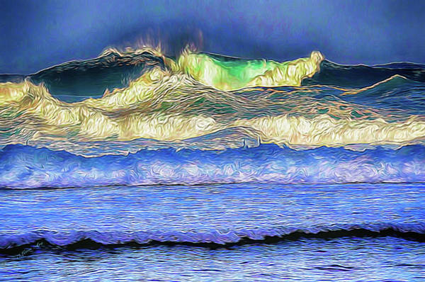Photograph - Hight Surf by OLena Art Brand