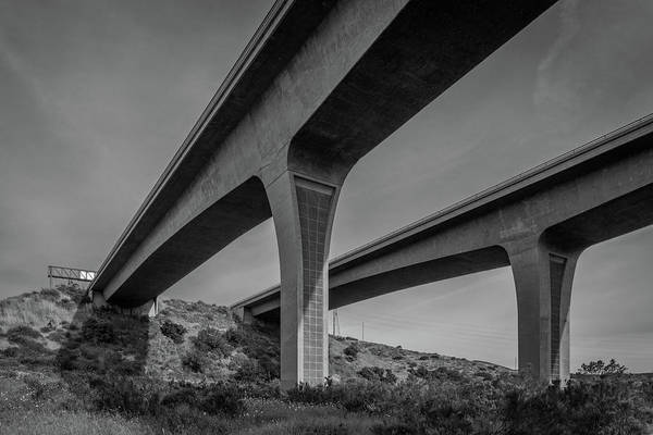 Photograph - Highway 52 Over Spring Canyon, Black And White by TM Schultze