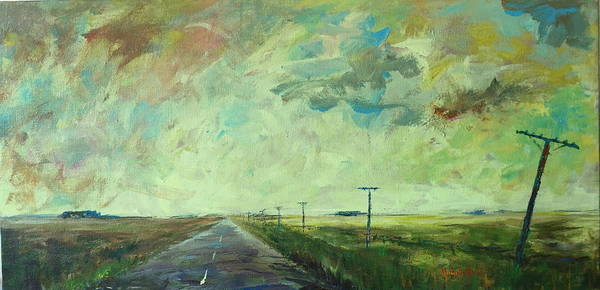 Northern Minnesota Wall Art - Painting - Highway 75 by Michelle Roise