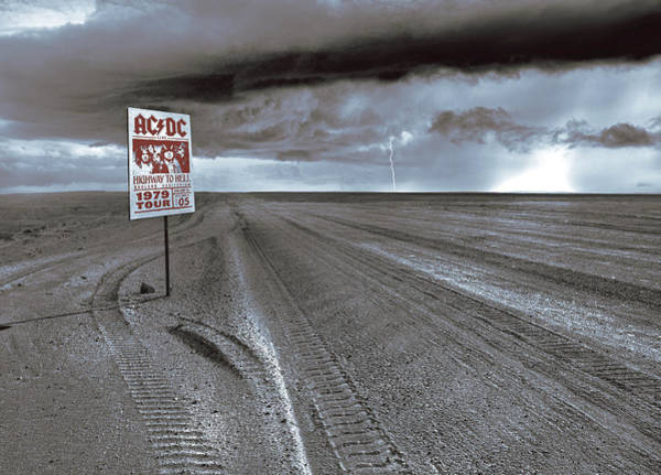 Ac Dc Wall Art - Photograph - Highway To Hell, Ac/dc by Mal Bray