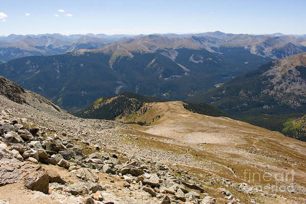 Photograph - Hikers Near Summit Of Mount Yale Colorado by Steve Krull