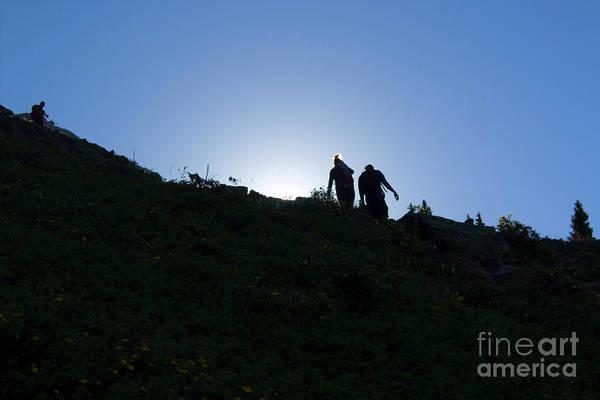 Photograph - Hikiers On Mount Massive by Steve Krull