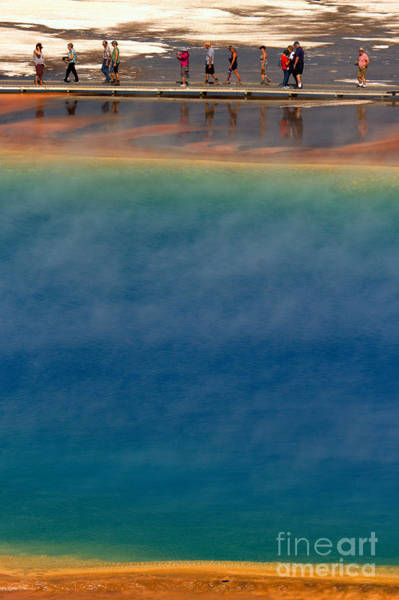 Photograph - Hiking Grand Prismatic At Midway by Adam Jewell