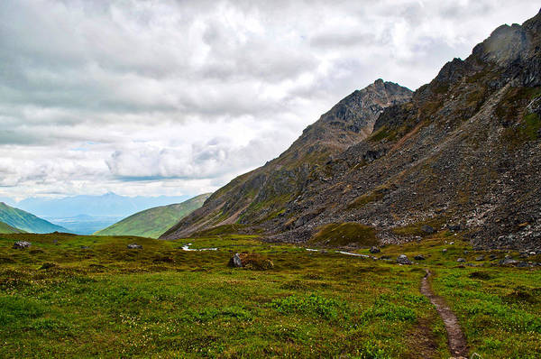 Aerial Tramway Wall Art - Photograph - Hiking In Hatcher Pass by Cathy Mahnke