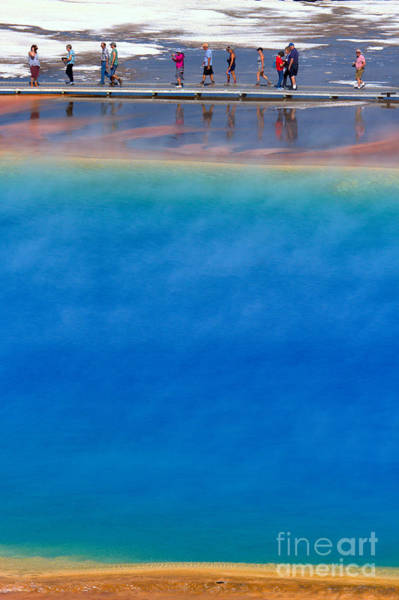 Photograph - Hiking On The Edge Of Grand Prismatic by Adam Jewell