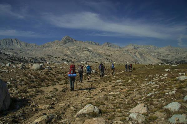 Hiking Through Humphrey Basin Art Print