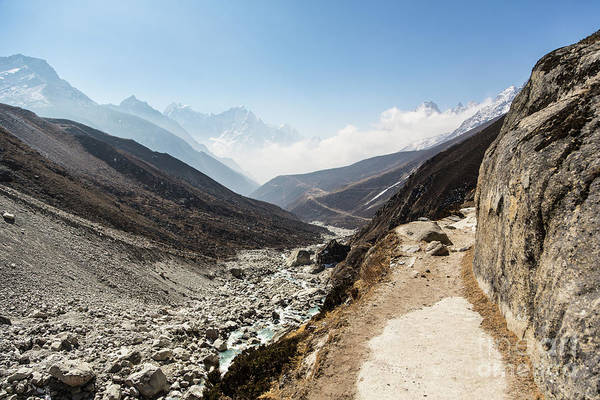 Photograph - Hiking Trail In Gokyo Valley by Didier Marti