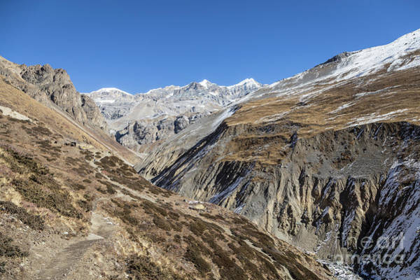 Photograph - Hiking Trail Leading To The Thorung La Pass Along The Annapurna  by Didier Marti