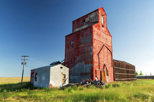 Grain Elevator Photograph - Hilger Red by Todd Klassy
