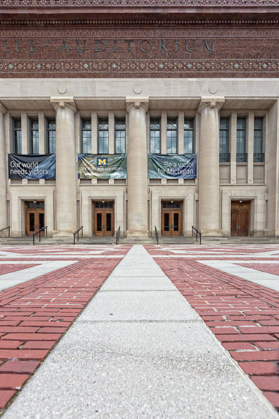 Rights Managed Images Wall Art - Photograph - Hill Auditorium U Of M by Cindy Lindow