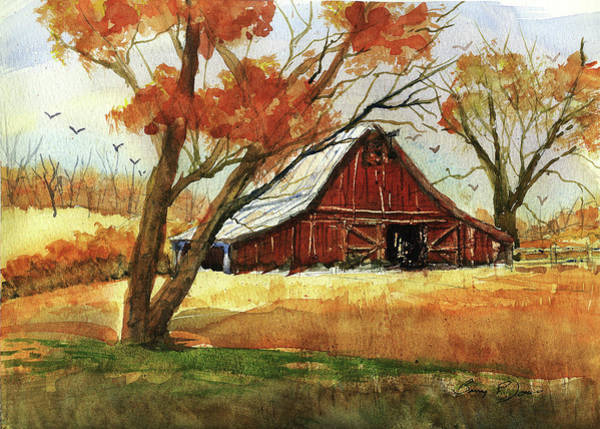 Painting - Hill Country Barn by Barry Jones