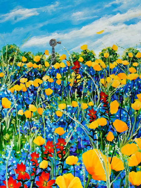 Rauch Wall Art - Painting - Hill Country by Linda Rauch