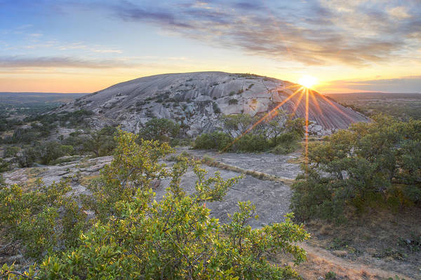 Enchanted Rock State Park Photograph - Hill Country Sunset At Enchanted Rock 1 by Rob Greebon