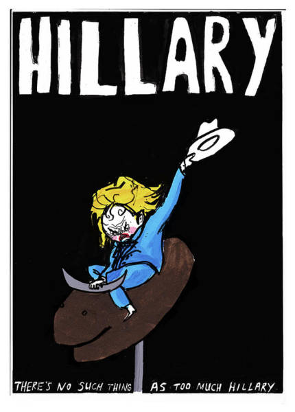 2016 Election Drawing - Hillary Clinton Campaign Poster by Edward Steed