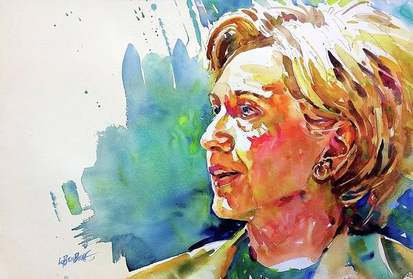 Painting - Hillary Clinton by David Lobenberg