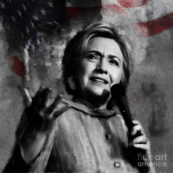 Election 2016 Painting - Hillary Clinton  by Gull G