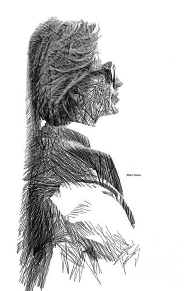 Digital Art - Hillary Clinton Sketch by Rafael Salazar