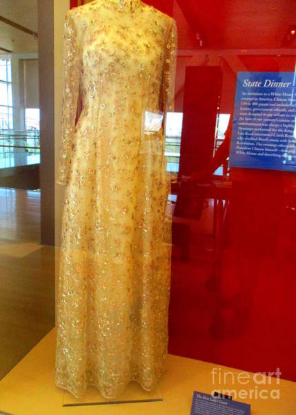 Hillary Clinton Photograph - Hillary Clinton State Dinner Gown by Randall Weidner