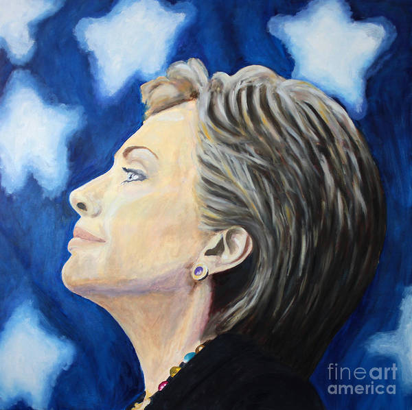 Election 2016 Painting - Hillary  by Debbie Davidsohn
