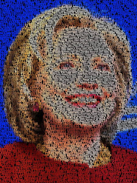 Election 2016 Painting - Hillary Presidents Mosaic by Paul Van Scott