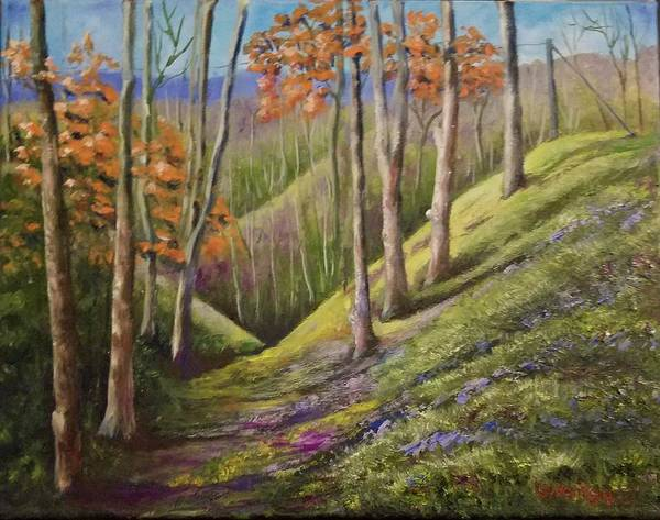 Wall Art - Painting - Hills And Valley by Lugenia Dixon