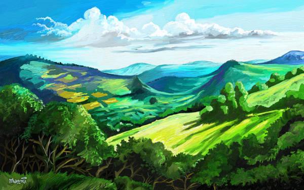 Uganda Painting - Hills Far Away by Anthony Mwangi