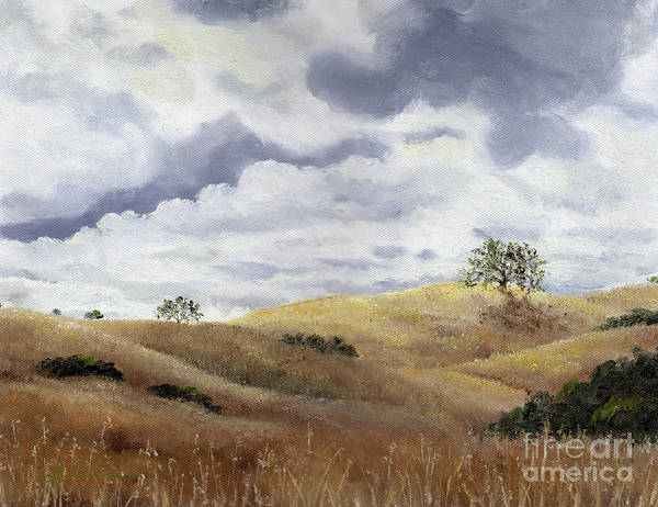 Oak Tree Painting - Hills Of Fremont Older by Laura Iverson